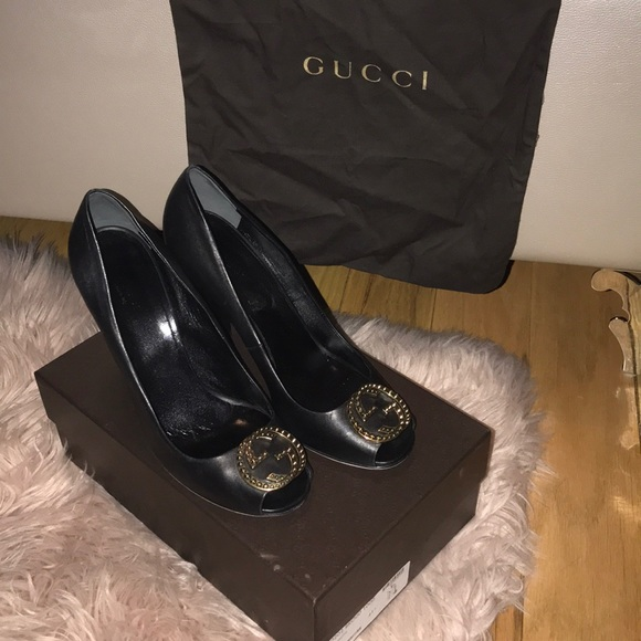 98d64b4d9 Gucci Shoes   Authentic Leather Heals W Gold Gg Hardware   Poshmark